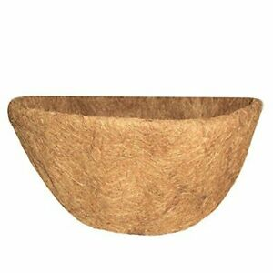 Growers Select Half Round Wall Basket Shape Coco Liner, 20 Inch