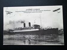 ANDRE LEBON, FRENCH SHIP, MESSAGERIES MARITIMES, BIPLANES - H. GRIMAUD (1916)