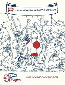 1989 New Jersey Eagles Yearbook/program, soccer, American Soccer League