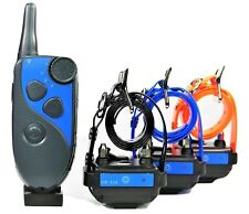 GROOVYPETS Waterproof Rechargeable 650 Yard Remote 3 Dog Training Shock Collar