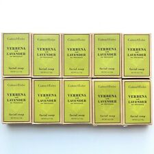 Crabtree & Evelyn Verbena Lavender Facial Soap Lot of 10 New In Box Travel Size