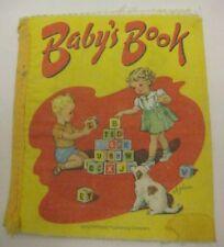 Old Soft Cloth BABY'S BOOK Rand McNally 1970