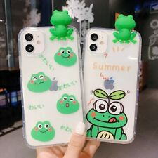 3D Frog Shockproof TPU Soft Clear Phone Cover Case For iPhone XR X 7 8 11Pro Max