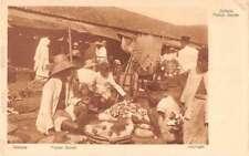 Batavia Indonesia Passer Senen Market Scene Antique Postcard J72631