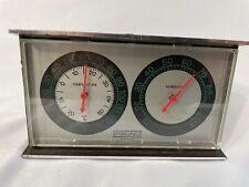 "New listing Vintage Springfield Humidity Meter & Temperature Gauge Wall Desk 5.75""x3-3/8""x2& #034;"
