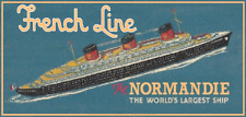 SS Normandie Matchbook Poster 10 x 18 - French Line