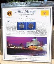 New Jersey Postal Commemorative Society State Coin and Stamp Panel