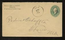 Papelería privado Impreso Env.1892 George e.daniels profesor Etc iuka Illinois