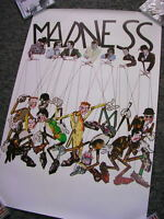 COMPLETE MADNESS - ORIGINAL 1982 MADNESS AS PUPPETS PROMOTIONAL POSTER - SUGGS