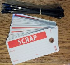 "Scrap Tags, Card Stock, 3""H x 5-1/2""W, Pkg of 25"