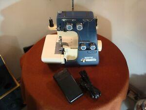 White Serger Superlock 534 Electronic Sewing Machine AS IS