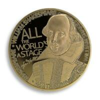 William Shakespeare, Gold Plated Coin, To be or not to be, Art,  2014, Token