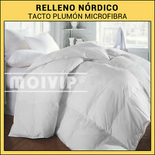 Relleno Nordico tacto Plumon / Edredon Nordico de Microfibra Blanco cama 135 cm