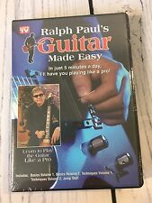 Ralph Paul's Guitar Made Easy Deluxe 5 DVD Lessons Set New Learn To Play Sealed