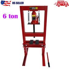 6Ton Heavy Duty Hydraulic Shop Press Floor Shop Equipment Jack Stand H Frame Red