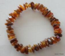 Stretch  greenish     Baltic Amber Bracelet  #2