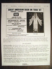 GLOBAL WRESTLING NEWS SERVICE#139-7/87-100'S RESULTS-NEWS ADS! NOSTALGIA! 8 PGS!