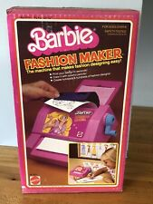 Vintage 1980 Barbie Fashion Maker Design Plate Printer Playset Designer NIB 3271