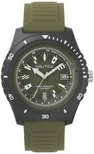 Nautica Ibiza 46mm Military Green Resin Mens Watch NAPIBZ009 + FREE US SHIPPING
