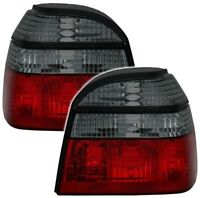 CRYSTAL SMOKED REAR TAIL LIGHTS LAMPS FOR VW GOLF MK3 MK 3 III  91-1998 MODEL TY