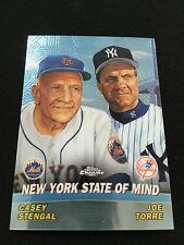 CASEY STENGAL & JOE TORRE INSERT METS/ YANKEES MANAGERS CHROME BASEBALL CARD