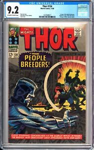 Thor #134 CGC 9.2 OW-W pages 1966 Marvel 1st High Evolutionary, 1st Man-Beast