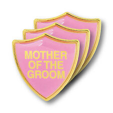 Mother Of The Groom Pink Wedding Shield Badge