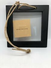 "pottery barn Black Wooden Hanging Frame Twine 3"" X 3"""
