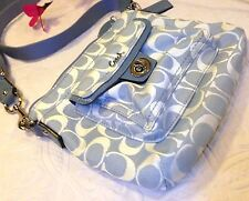 COACH F45026 Blue Signature TurnLock Pocket Zip Crossbody SwingPack NWOT w*spots