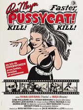 R446 FASTER PUSSYCAT KILL KILL Movie-Print Art Silk Poster