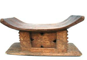 Art Africain - Ancien Tabouret Akan - Objet Usuel - Collectionneur d'Afrique +++