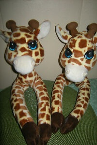 Curtain Critters Giraffe Tie Backs Plush Jungle Themed Room Decor Set of 2