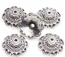 15 Tibetan Silver Flower Loose Spacer Bead Caps Charm Jewelry Finding 14x5mm DIY