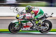 2017 MOTOGP Cal Crutchlow Silverstone UK Signature Photograph 6X4 PHOTO PRONT