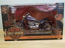American Muscle Ertl Harley-Davidson Series 3 2003 Softail Deuce 1:10 blue hd1