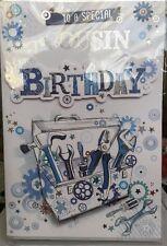 Alla mia cugina SPECIALE/è il tuo Compleanno-Maschio 3D cartolina di Compleanno