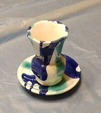 Vase plus Untersetzer, sehr schön, Gmundner Keramik Wasserfall