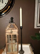 "Cast Iron Farmhouse BlackTaper Candle Holder 14-1/4""Candlestick"