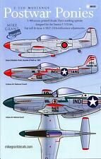 Mike Grant Decals 1/48 POSTWAR PONIES P-51D Mustangs in Post War Service