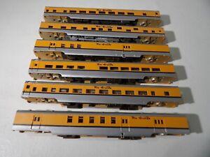 Con-cor N scale 6 car Rio Grande Passenger set ( No Trucks )