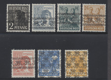 Germany 1948 Workers 7 different with Inverted Posthorn overprints Vf 4 H, 3 Nh