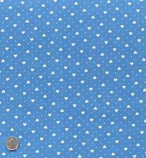 100/% Cotton Poplin Fabric Rose /& Hubble 7mm Hearts Polka Dots Spots Green Cream