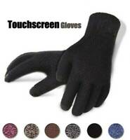Winter Touch Screen Outdoor Driving Windproof Thermal Knitted Men Womens Gloves