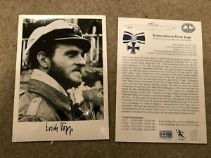 UB1A WWII WW2  U-boat Captain ERICH TOPP KC hand signed photograph