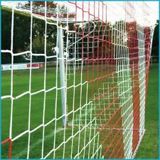 Jugend Fußballtornetz Tornetz Fußballnetz 5 x 2 m, 1,00 / 1,00 m, 4 mm Rot Weiß