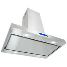 "36"" Island Mount Stainless Steel Touch Panel Kitchen Range Hood Cooking Fan"