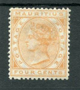 Mauritius 1879-80 4c orange SG93 MM cat £65