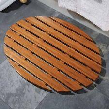 BAMBOO DUCK BOARD WOODEN NATURAL WOOD BATHROOM OVAL RECTANGULAR SHOWER BATH MAT