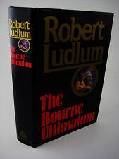1st Edition THE BOURNE ULTIMATUM Robert Ludlum ESPIONAGE Spy FIRST PRINTING
