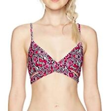 Billabong DEL REY WRAP Womens Bikini Top Medium Multi NEW
